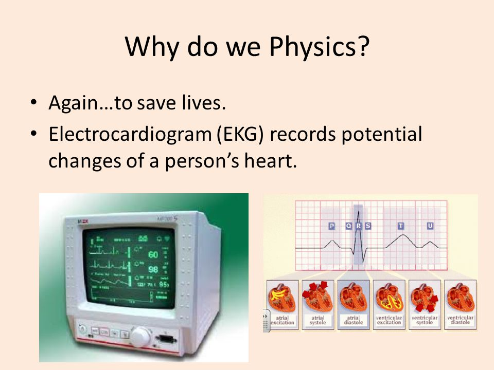 Why do we Physics Again…to save lives.