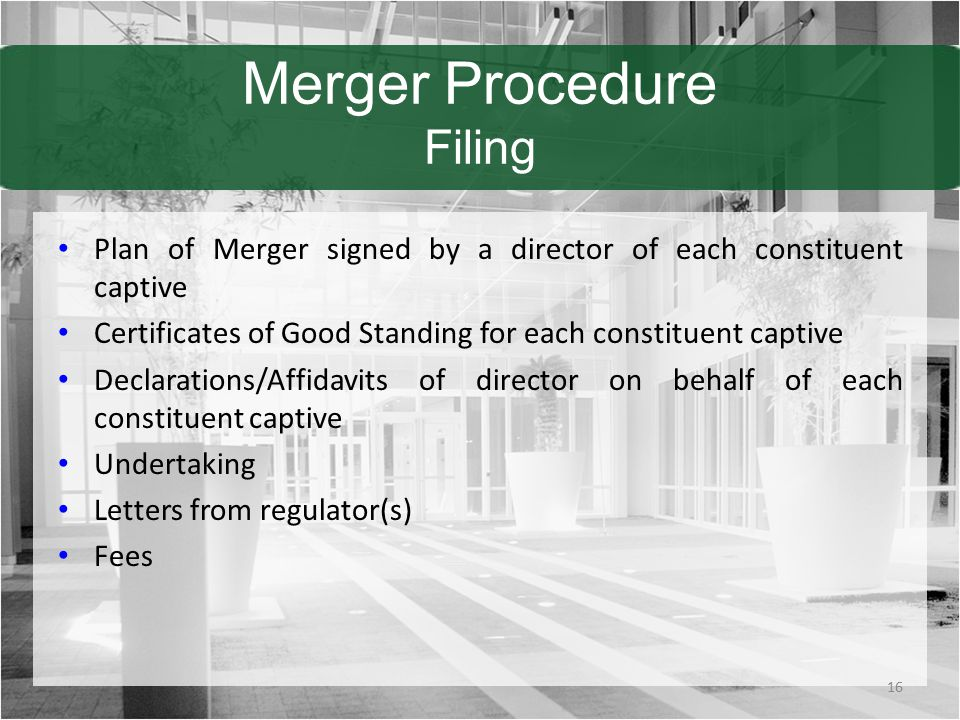 Merger Procedure Filing