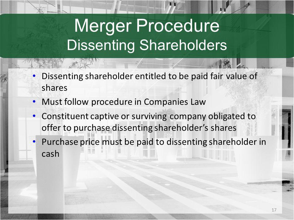 Merger Procedure Dissenting Shareholders