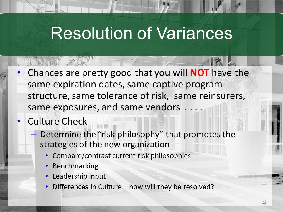 Resolution of Variances