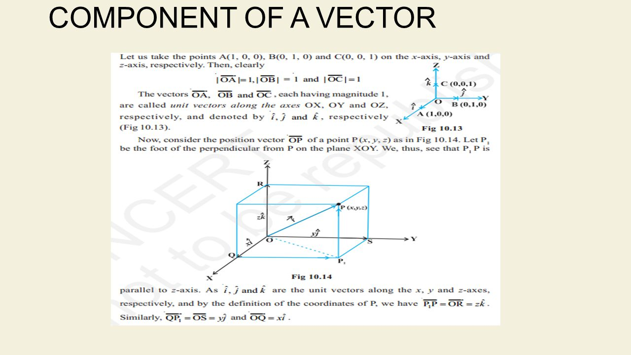 COMPONENT OF A VECTOR
