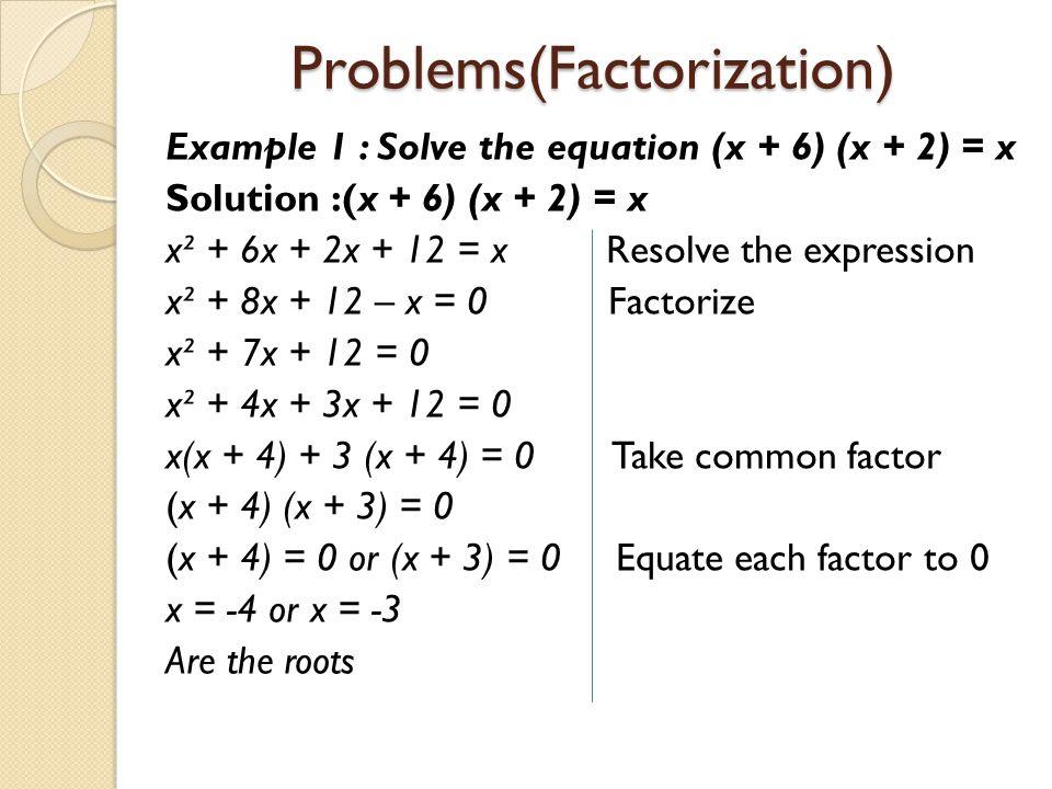 Problems(Factorization)