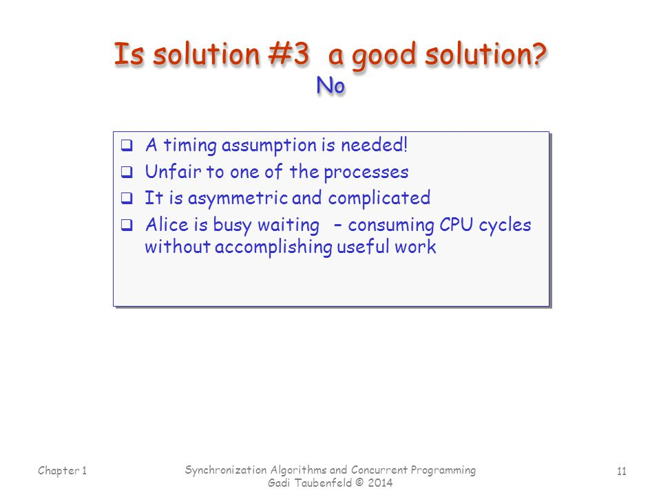 Is solution #3 a good solution No