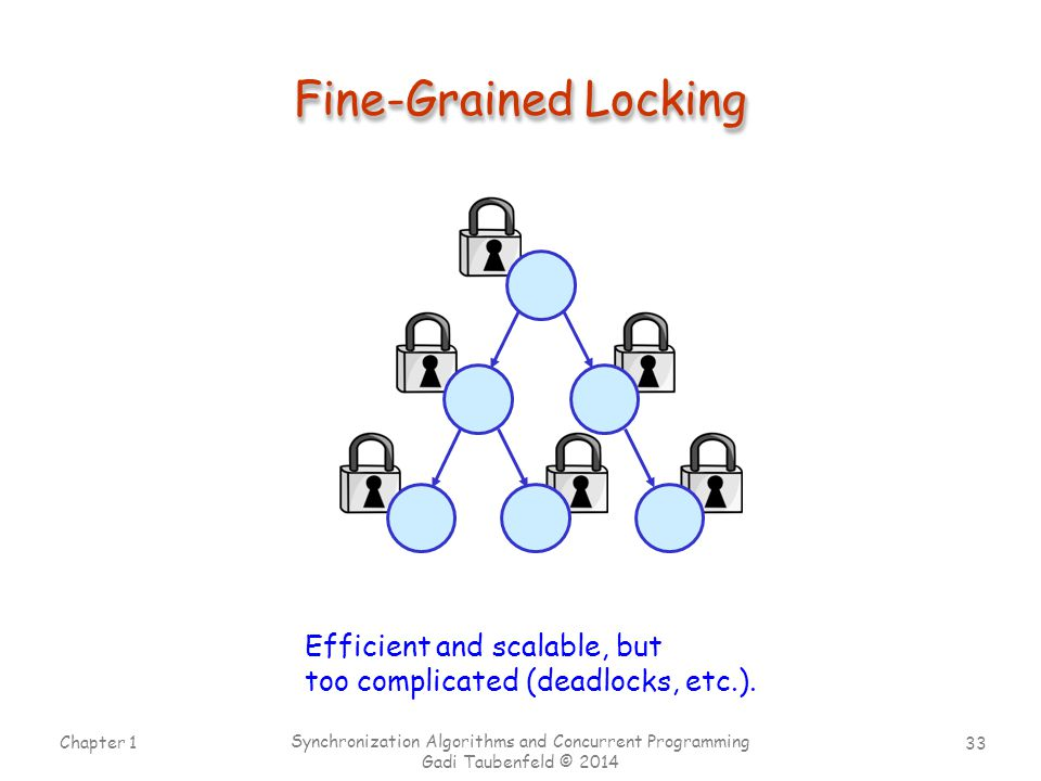 Fine-Grained Locking Efficient and scalable, but