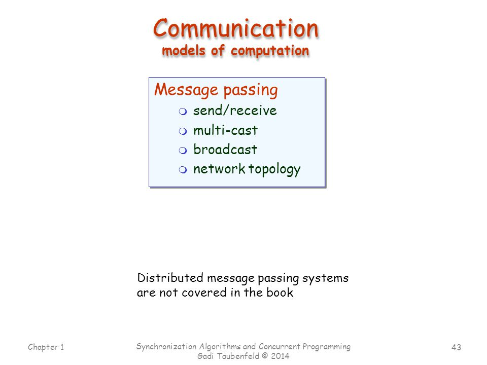 Communication models of computation