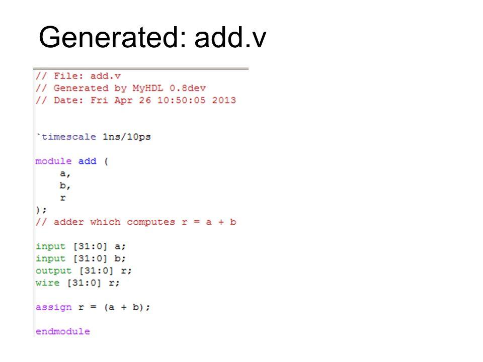 Generated: add.v
