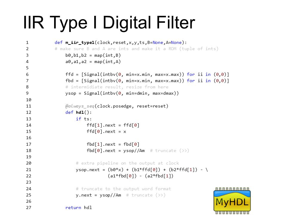 IIR Type I Digital Filter