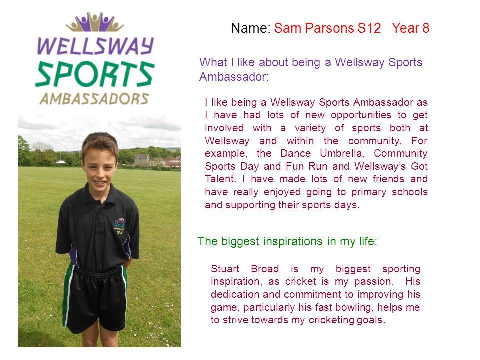 Name: Sam Parsons S12 Year 8