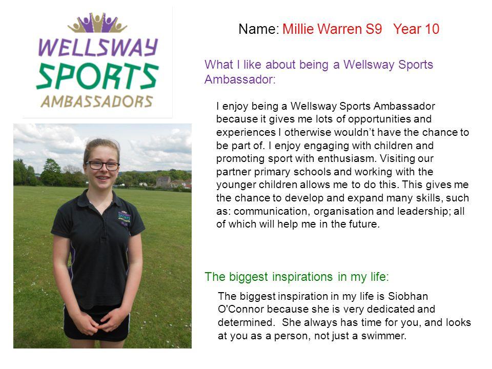 Name: Millie Warren S9 Year 10