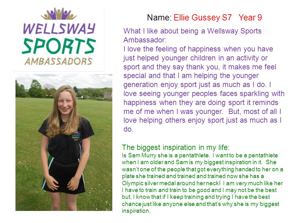 Name: Ellie Gussey S7 Year 9