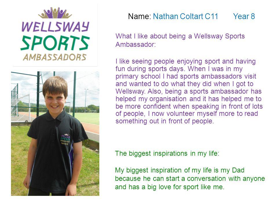 Name: Nathan Coltart C11 Year 8