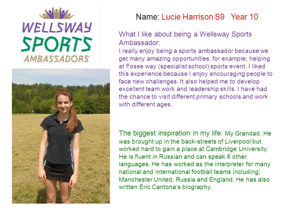 Name: Lucie Harrison S9 Year 10