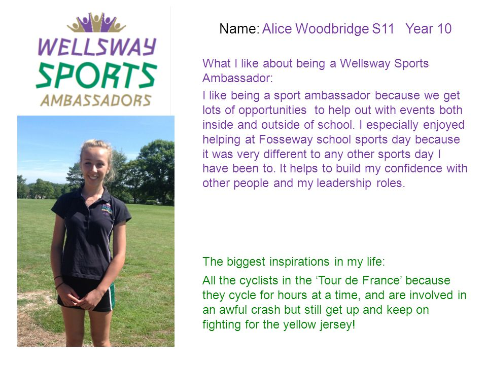 Name: Alice Woodbridge S11 Year 10