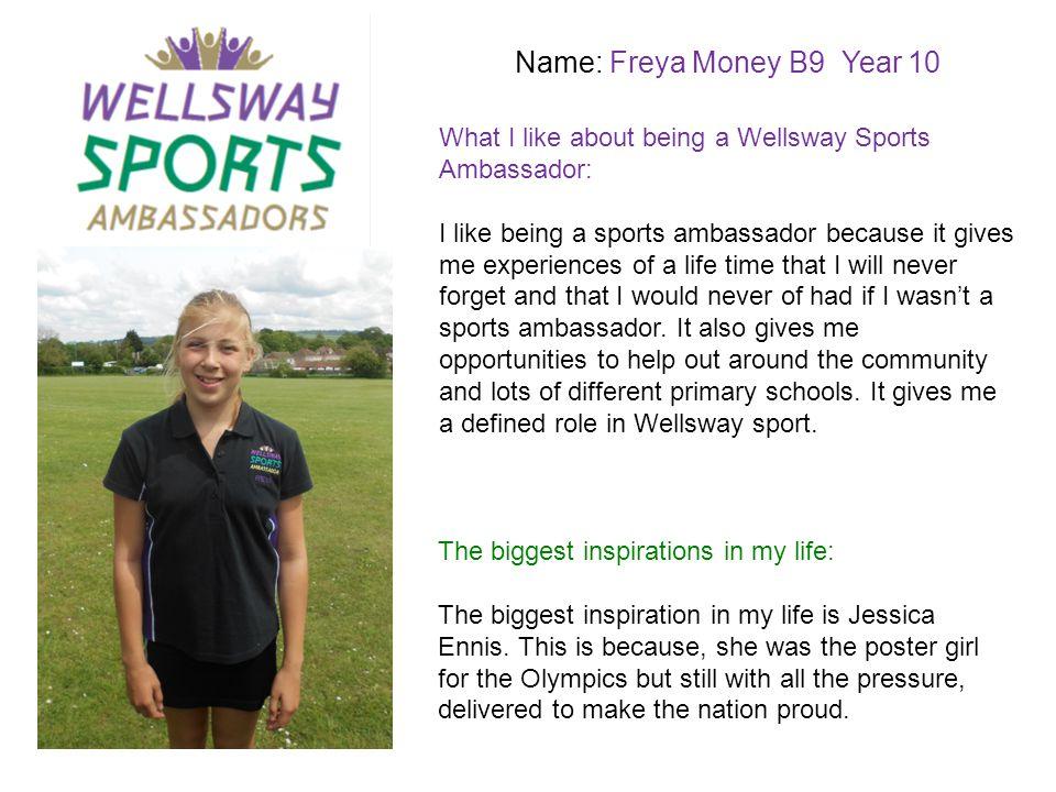 Name: Freya Money B9 Year 10