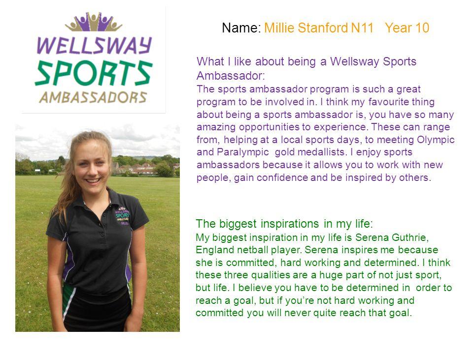Name: Millie Stanford N11 Year 10