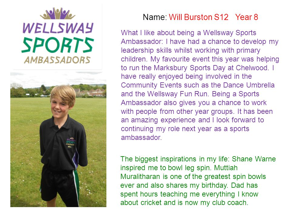 Name: Will Burston S12 Year 8