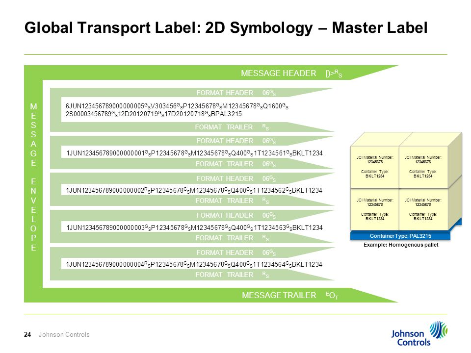 Global Transport Label: 2D Symbology – Master Label