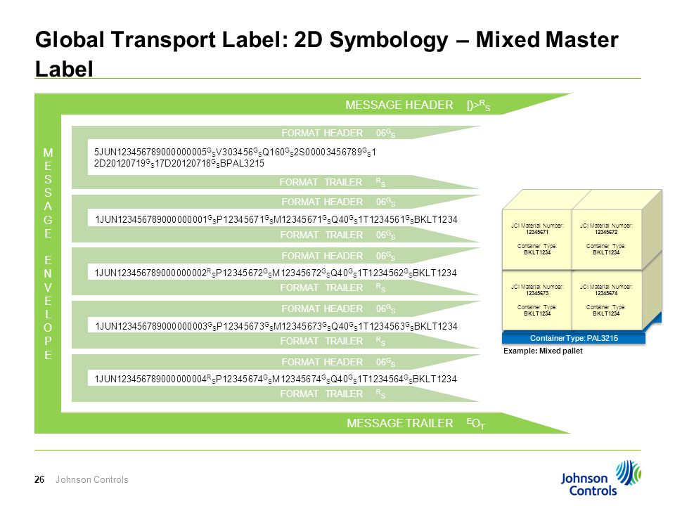 Global Transport Label: 2D Symbology – Mixed Master Label
