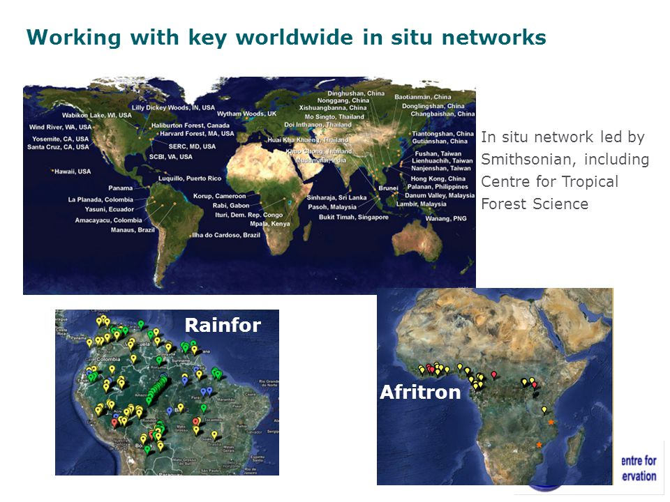 Working with key worldwide in situ networks