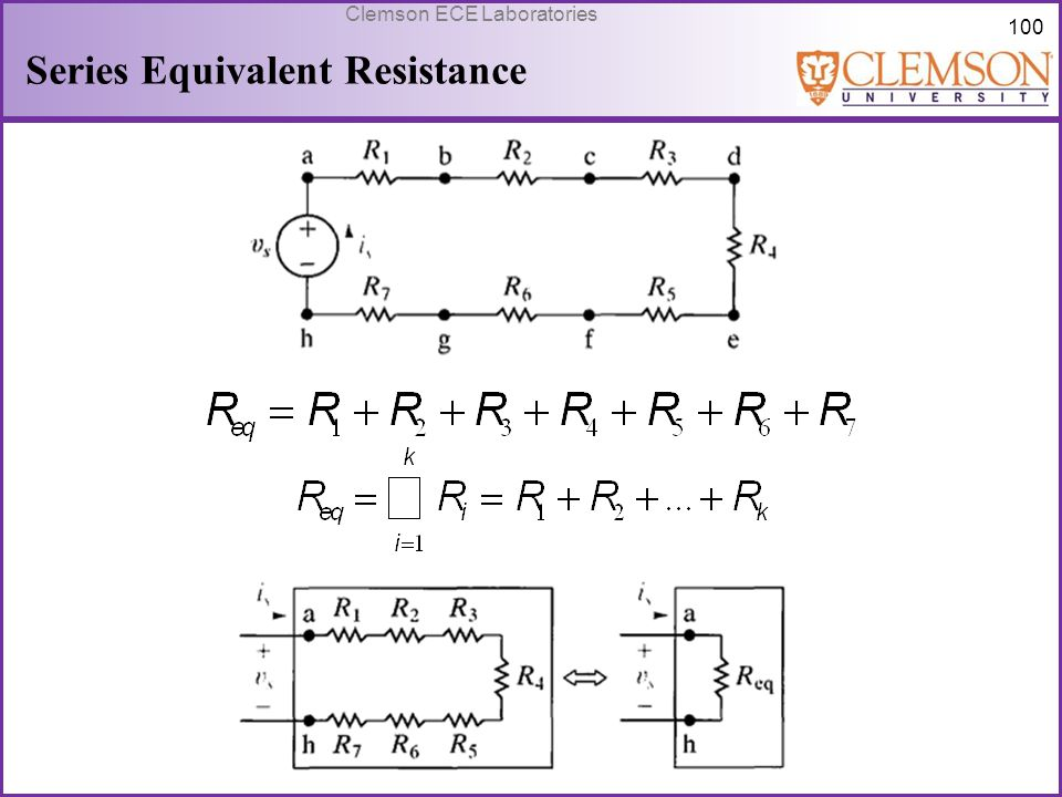 Series Equivalent Resistance