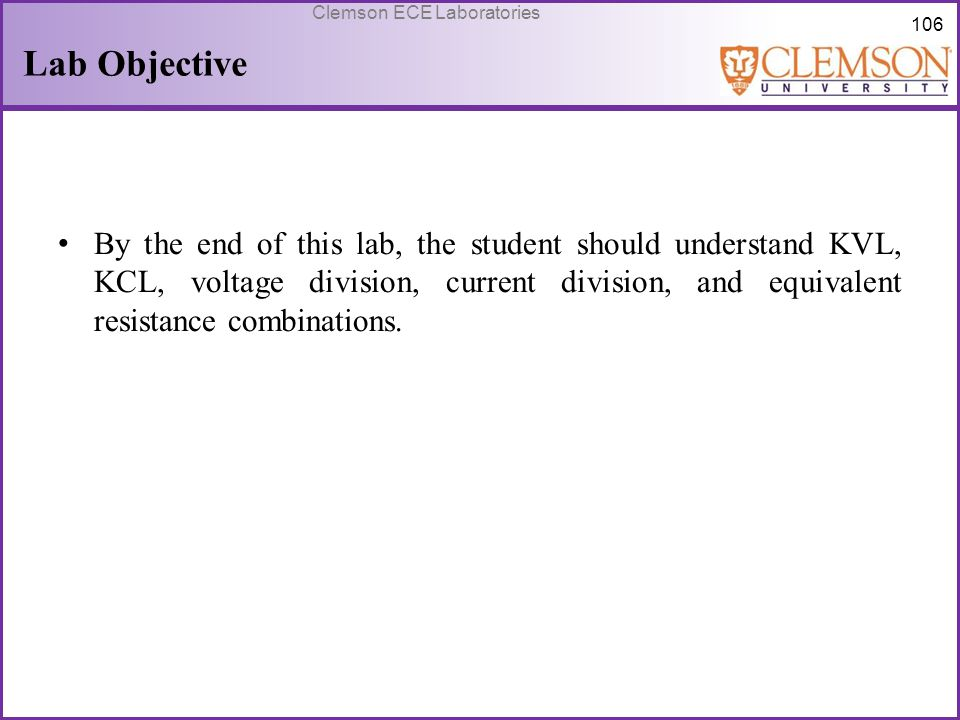 Lab Objective