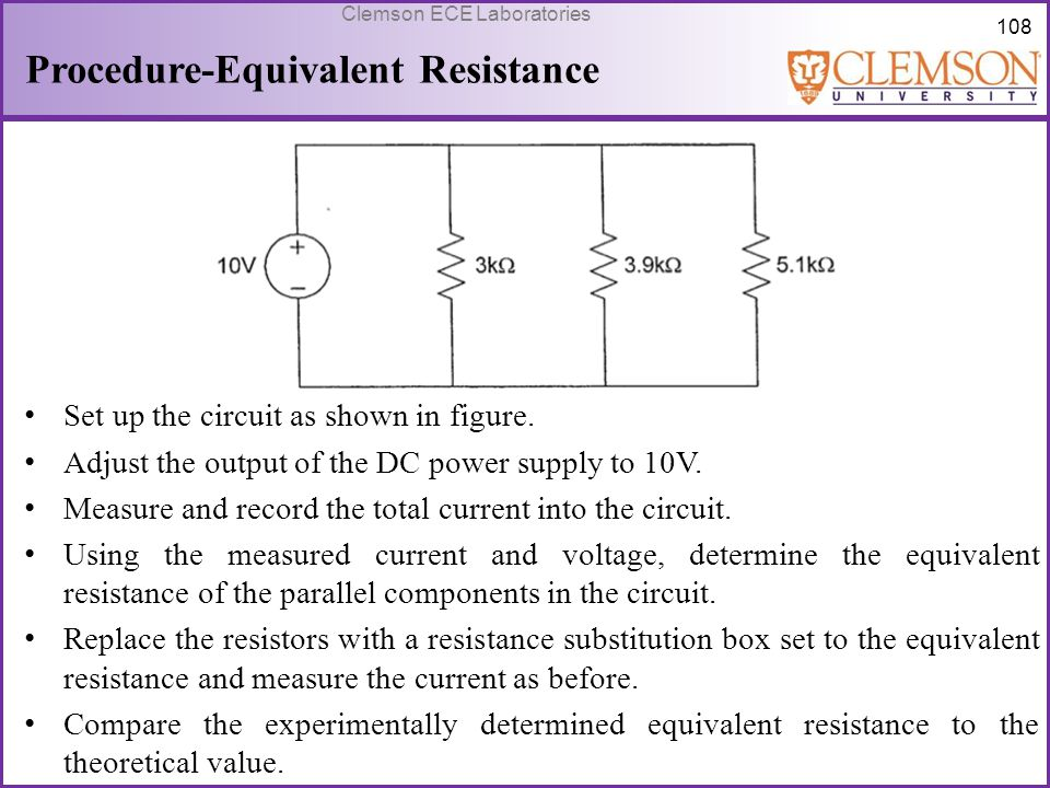 Procedure-Equivalent Resistance