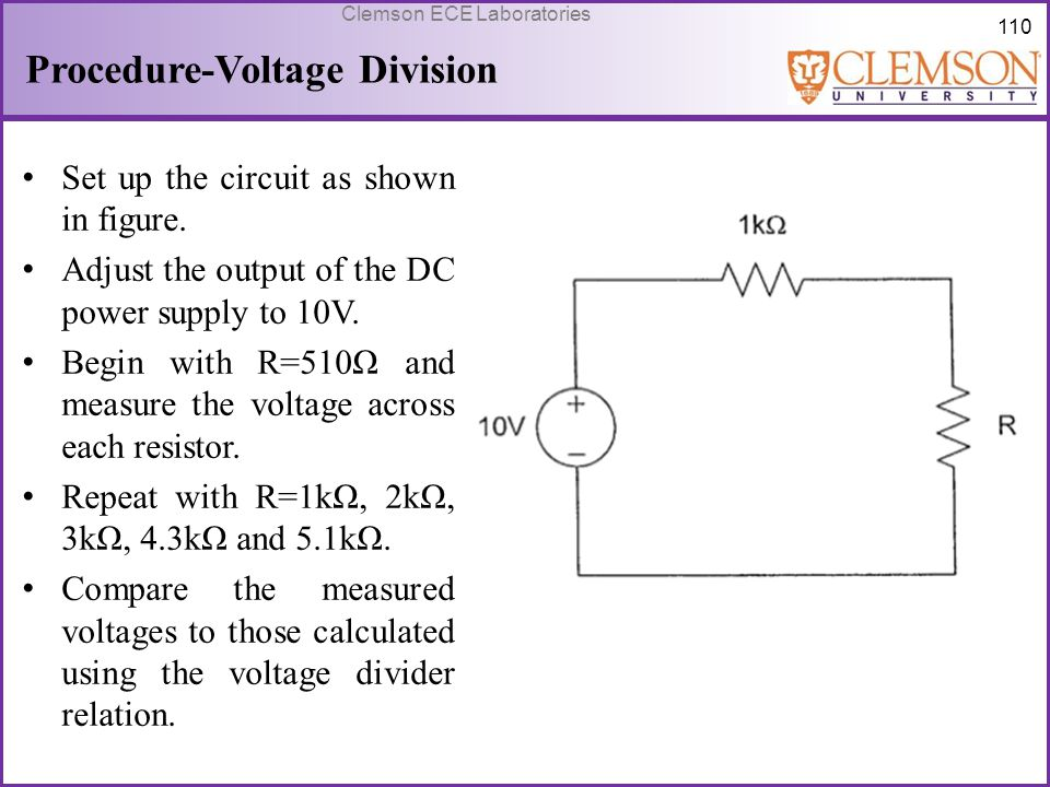 Procedure-Voltage Division