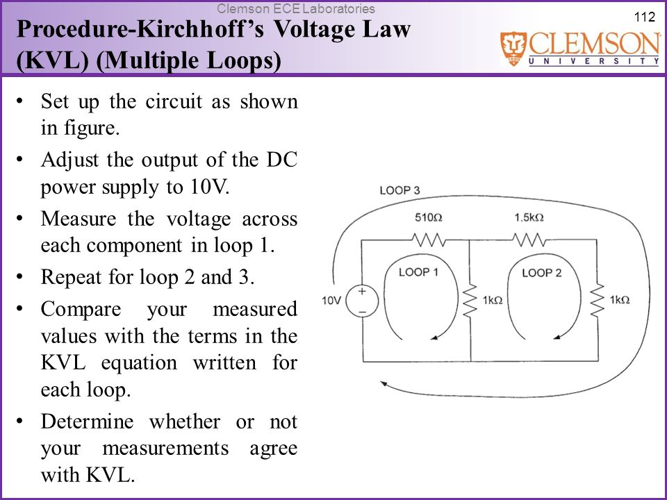 Procedure-Kirchhoff's Voltage Law (KVL) (Multiple Loops)