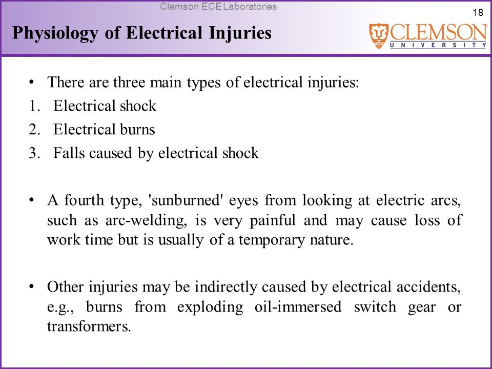 Physiology of Electrical Injuries