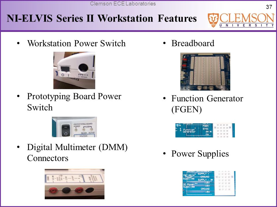NI-ELVIS Series II Workstation Features