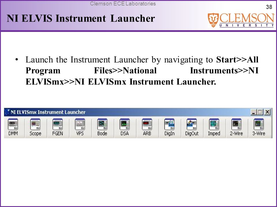 NI ELVIS Instrument Launcher