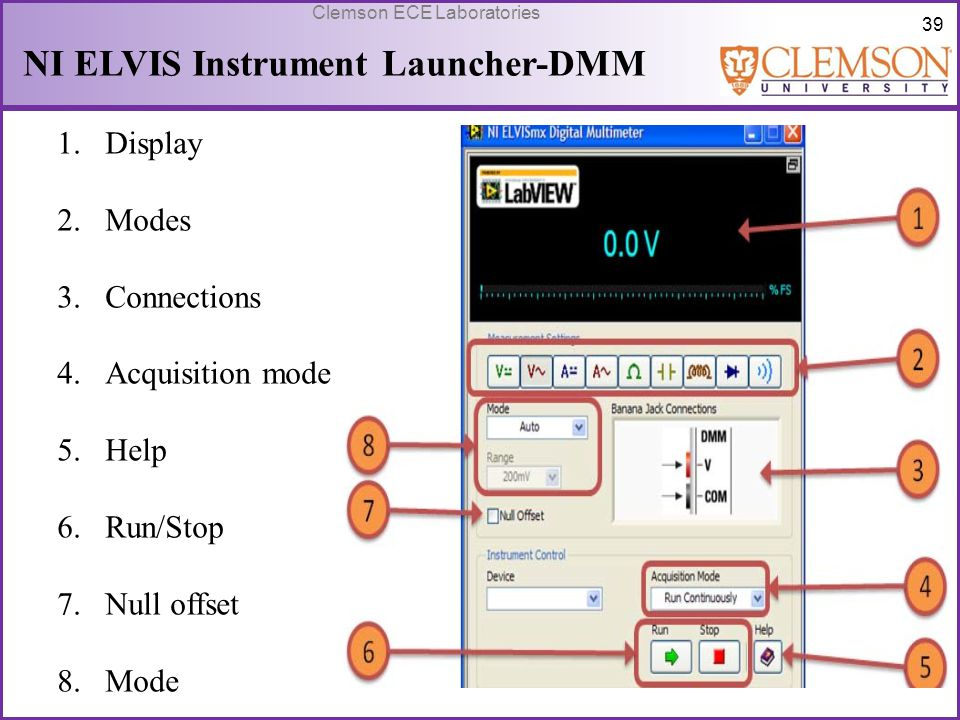 NI ELVIS Instrument Launcher-DMM