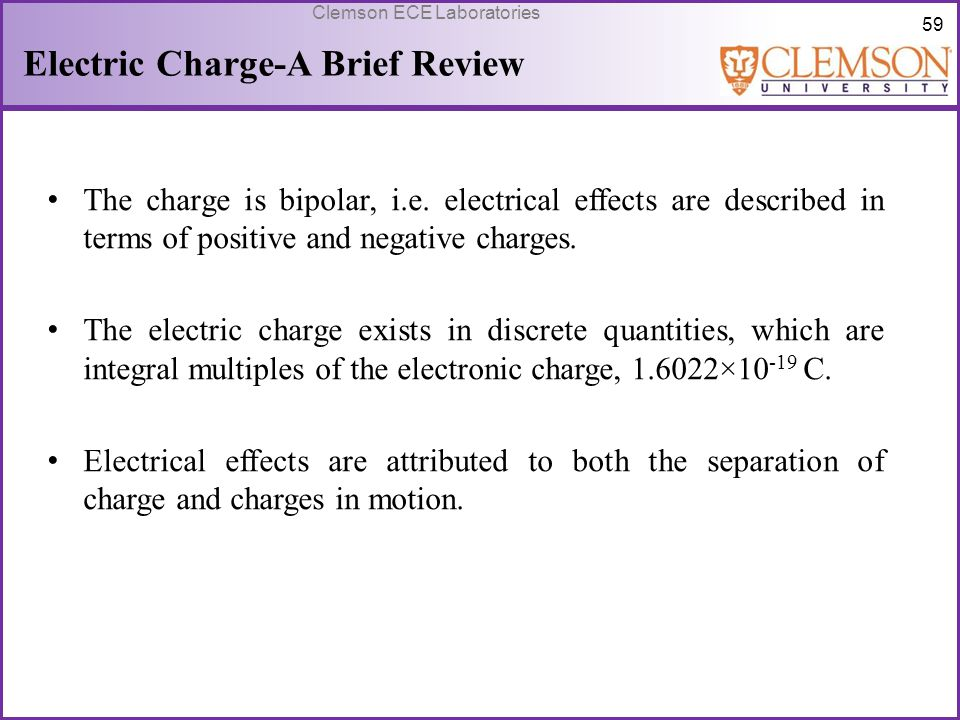 Electric Charge-A Brief Review