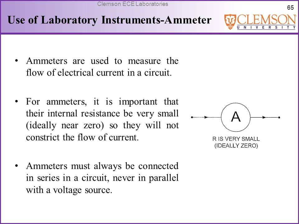 Use of Laboratory Instruments-Ammeter