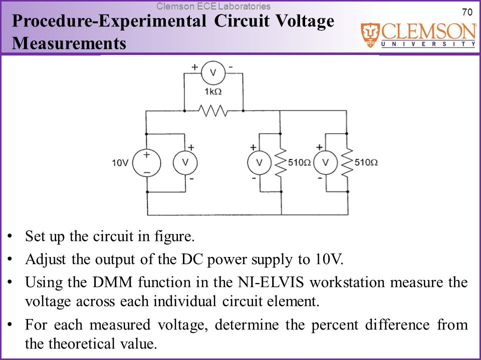 Procedure-Experimental Circuit Voltage Measurements