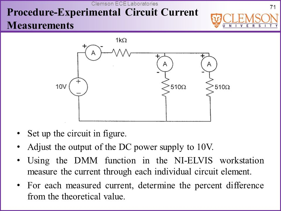 Procedure-Experimental Circuit Current Measurements