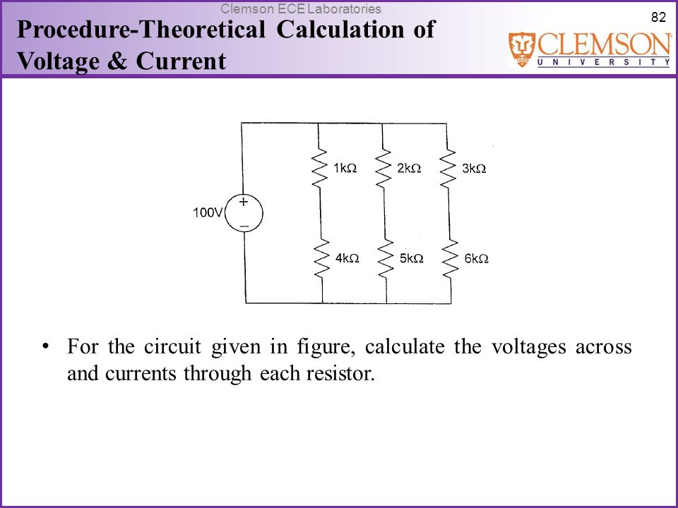 Procedure-Theoretical Calculation of Voltage & Current
