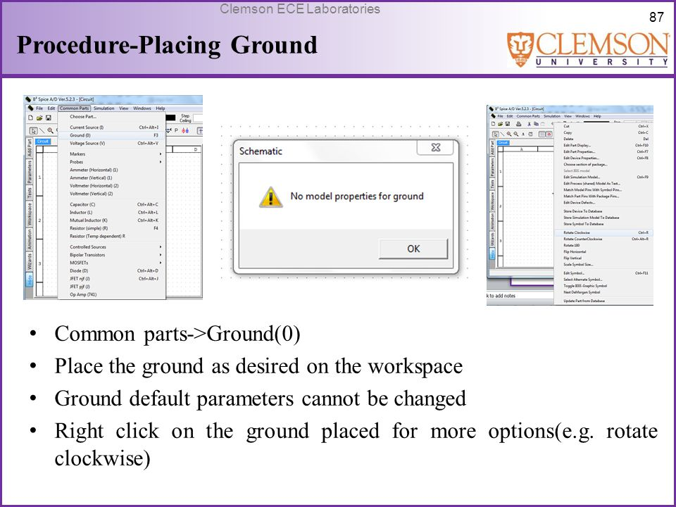 Procedure-Placing Ground