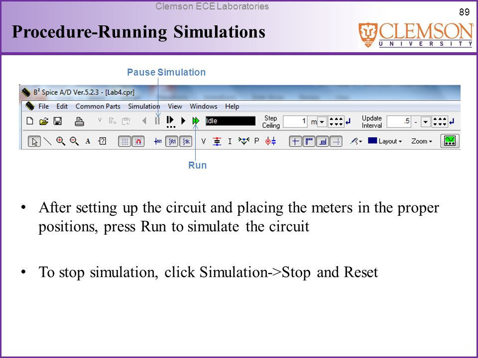 Procedure-Running Simulations