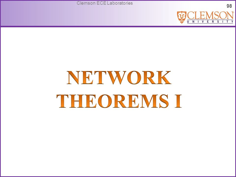 NETWORK THEOREMS I
