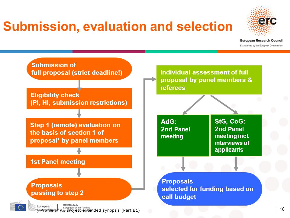 Submission, evaluation and selection