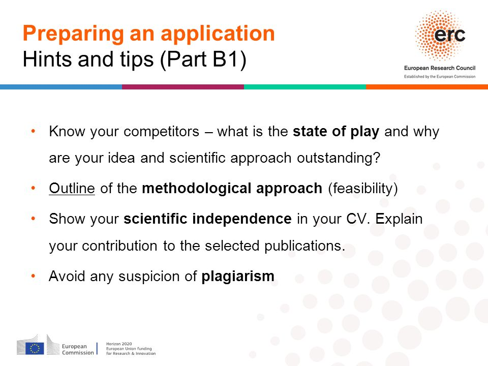 Preparing an application Hints and tips (Part B1)