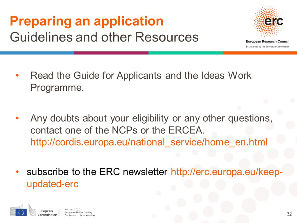 Preparing an application Guidelines and other Resources