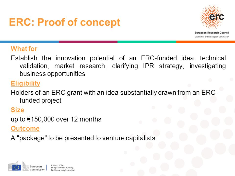 ERC: Proof of concept What for