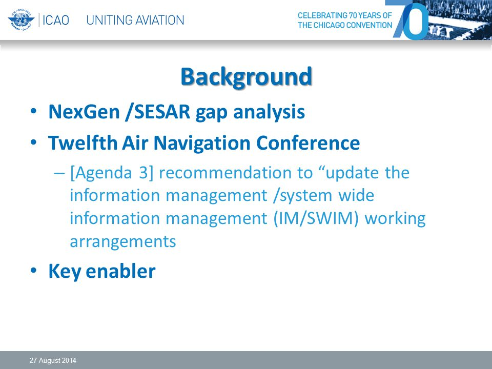 Background NexGen /SESAR gap analysis