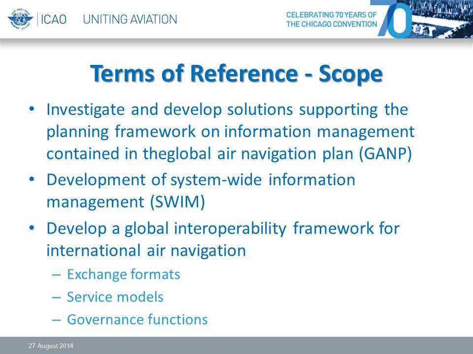 Terms of Reference - Scope