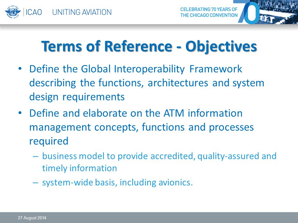 Terms of Reference - Objectives