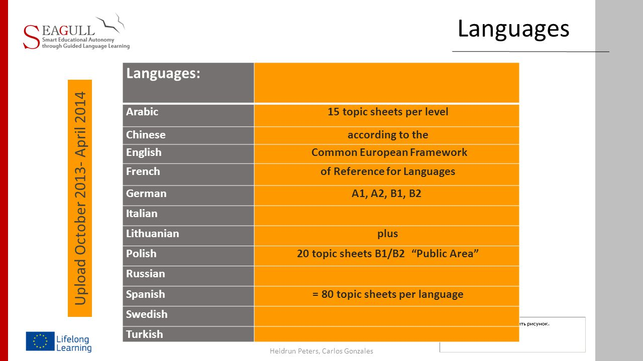 Languages Languages: Upload October 2013- April 2014 Arabic