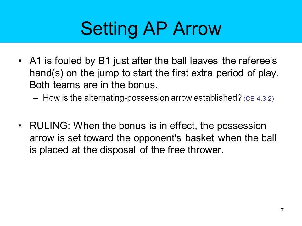 Setting AP Arrow