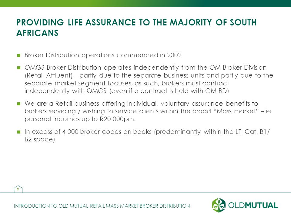 PROVIDING LIFE ASSURANCE TO THE MAJORITY OF SOUTH AFRICANS